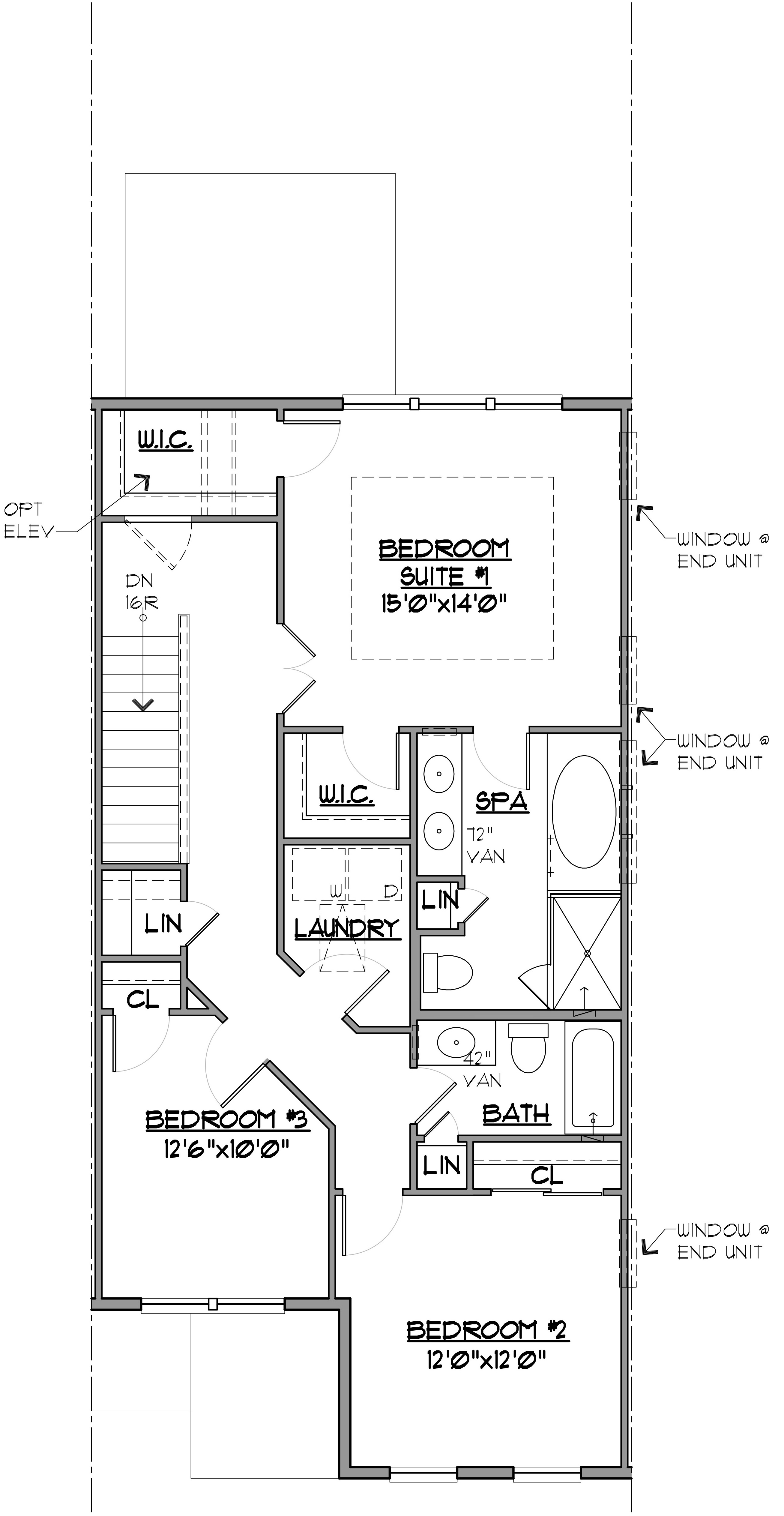 Hatteras Floor Plan Bedroom Level