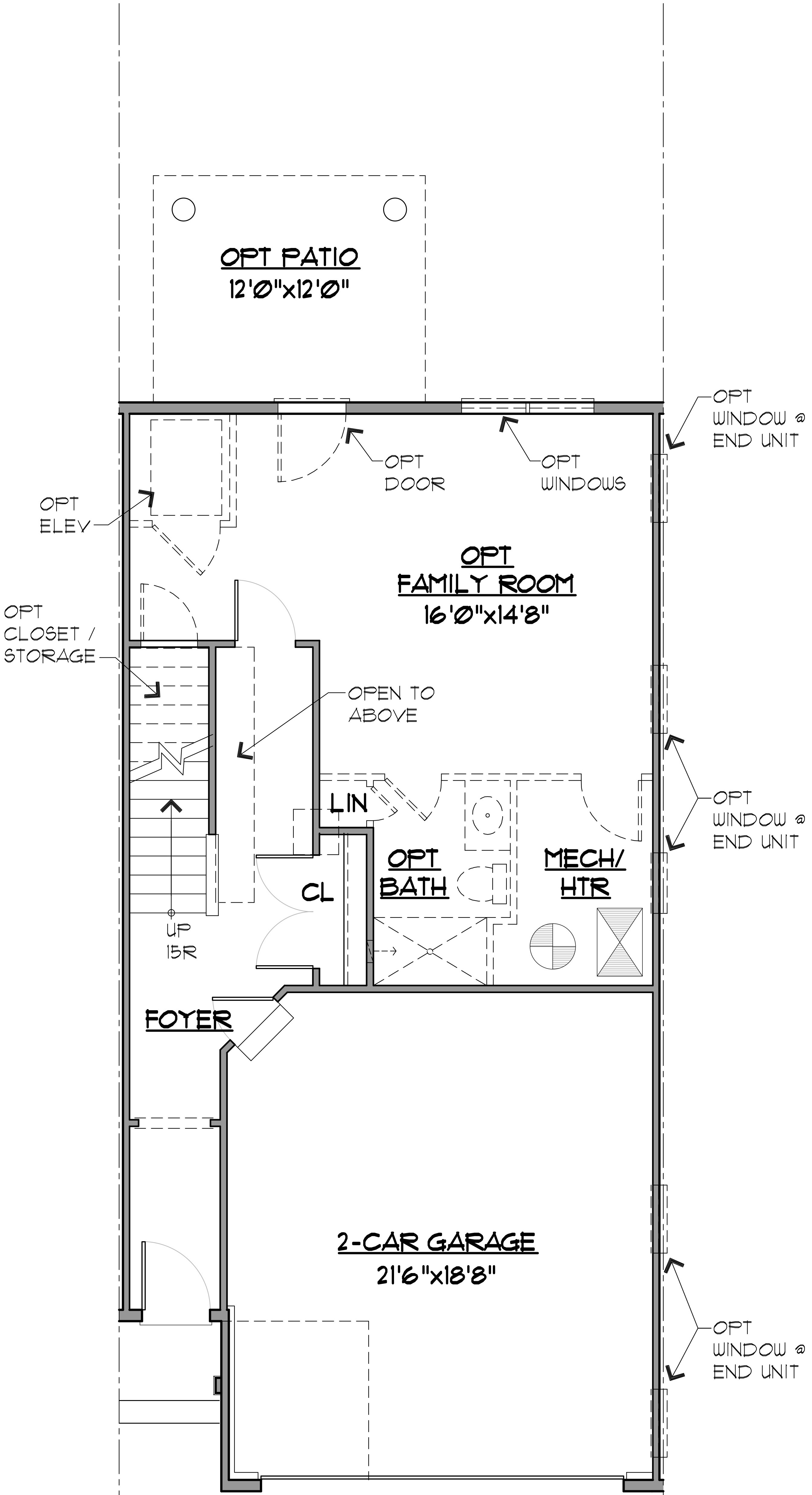 Hatteras Floor Plan Entry Level