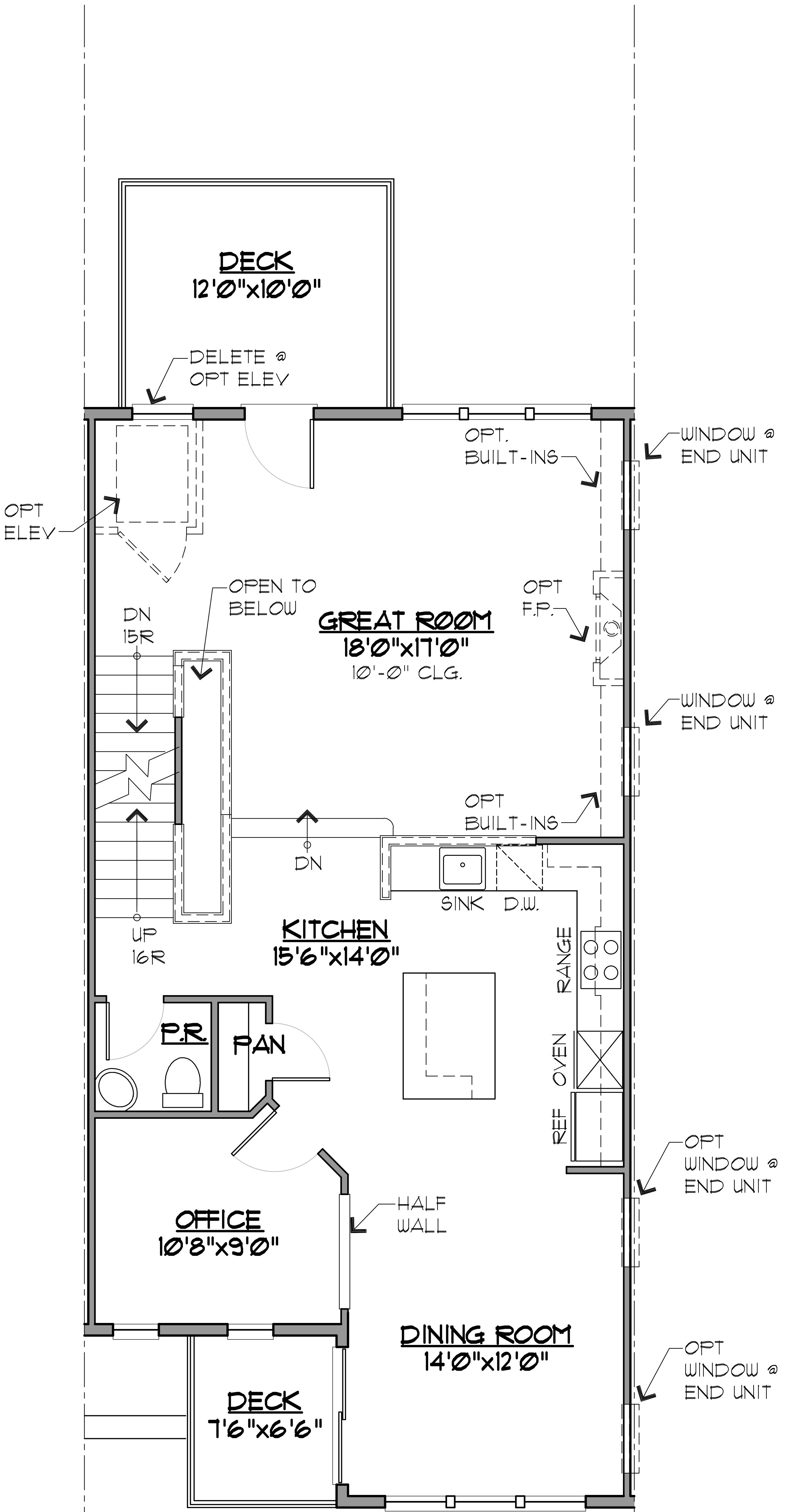 Image of the Hatteras Floor Plan Main Level