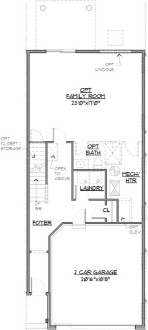 Newport Floor Plan Entry Level