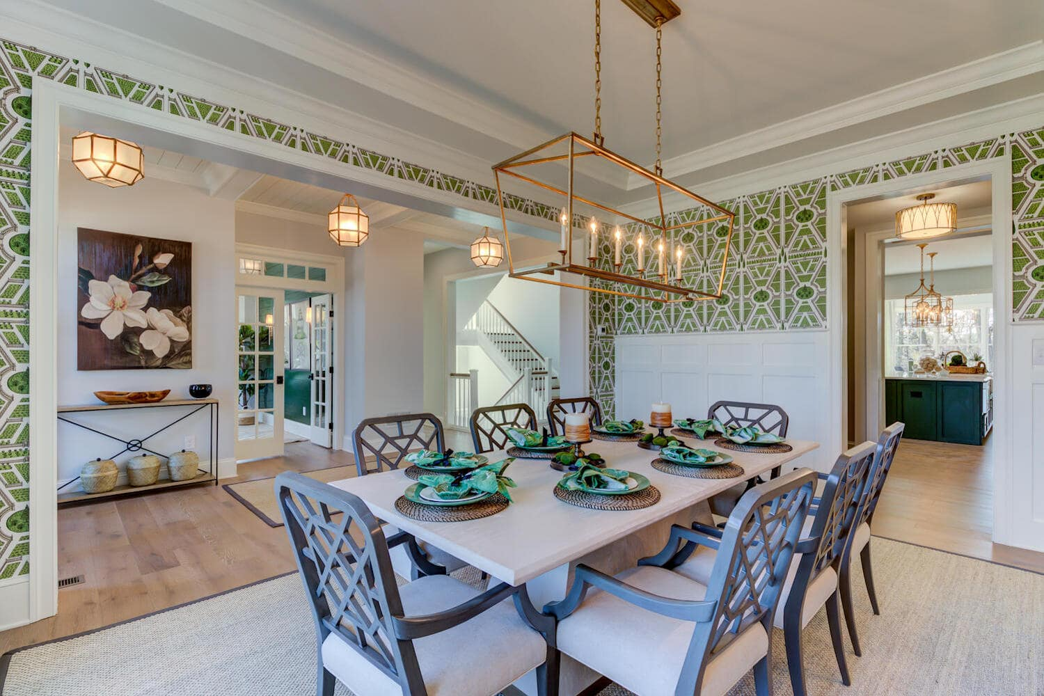 Dining room in a new home in Wayne from Bentley Homes.