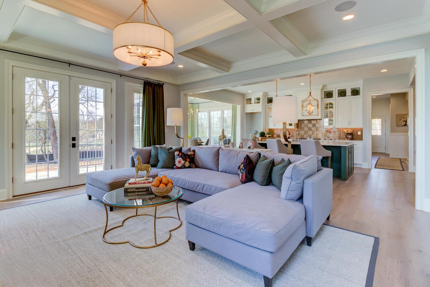Interior gathering room in a new home from Bentley Homes.