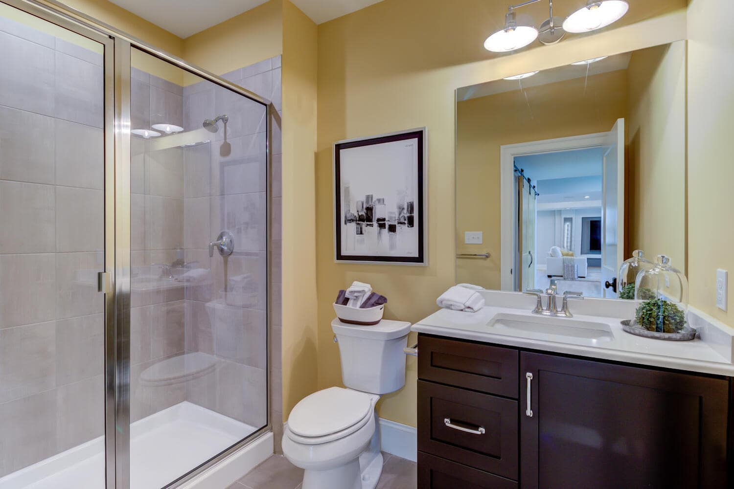 Bathroom in a new home in Wayne from Bentley Homes.
