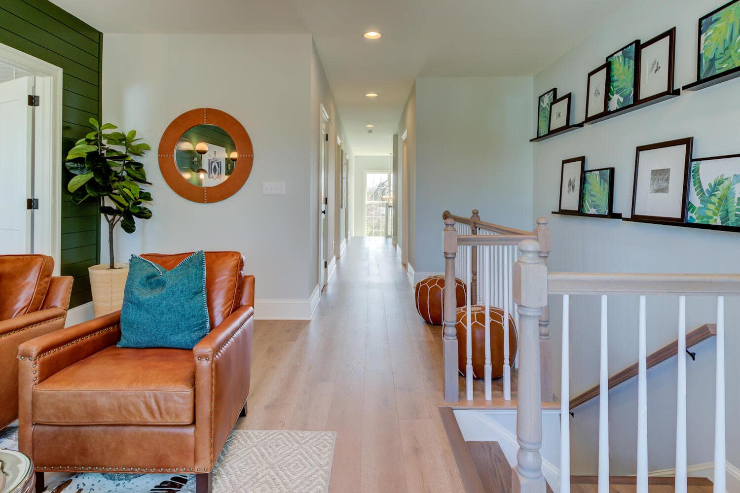 Gathering room inside a new home from Bentley Homes.