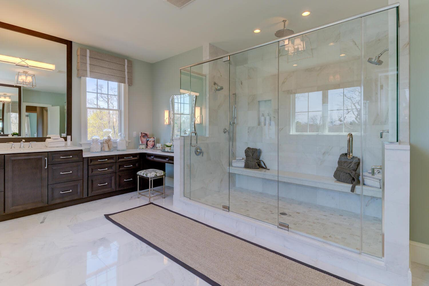 Master bathroom inside a new home from Bentley Homes.