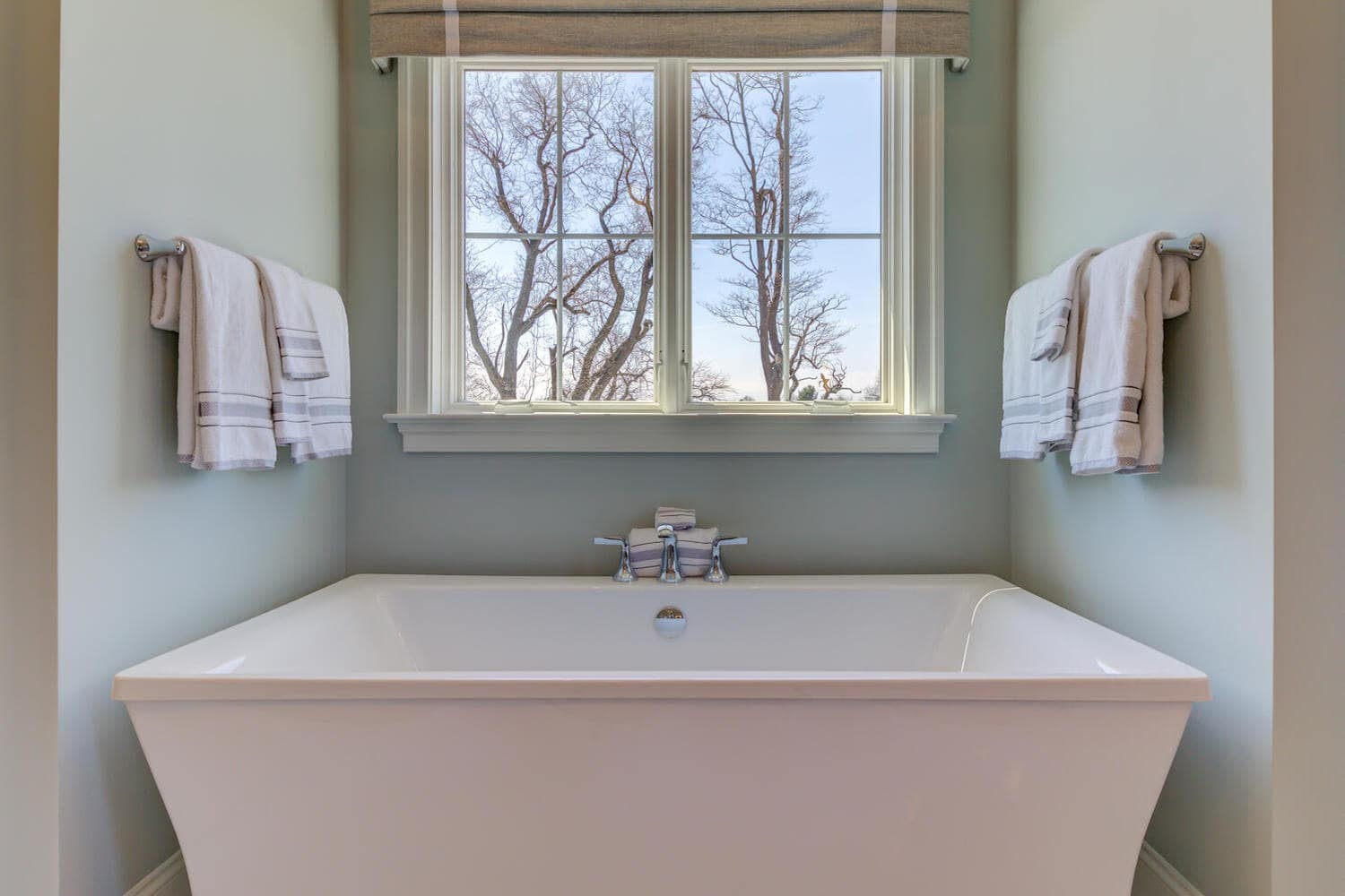 Master bath in a new home from Bentley Homes.
