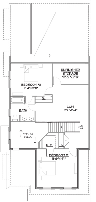 Annapolis End Floor Plan Bedroom Level
