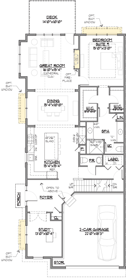 Annapolis End Floor Plan Main Level