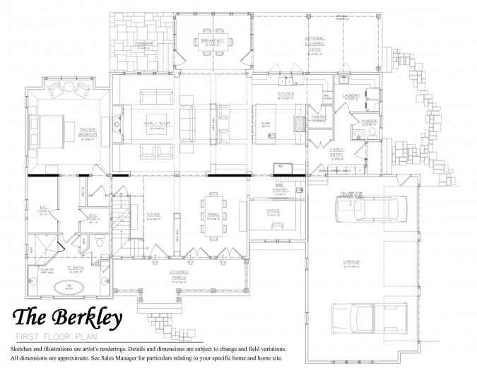 Berkley Floor Plan 1st Floor