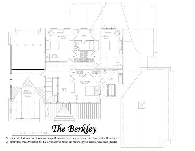 Berkley Floor Plan 2nd Floor