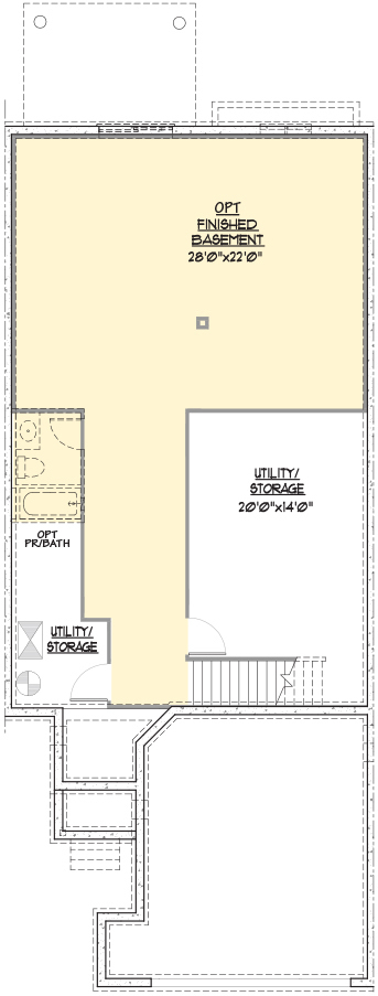 Brandywine Floor Plan Basement Level
