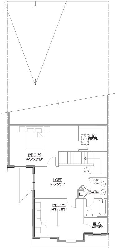 Brandywine Floor Plan Bedroom Level