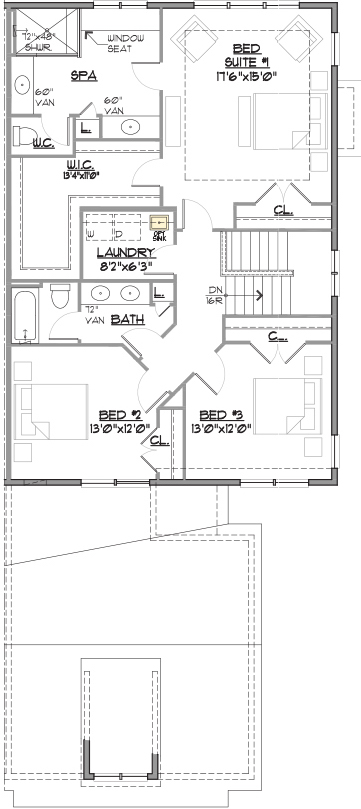 Charleston End Floor Plan Bedroom Level