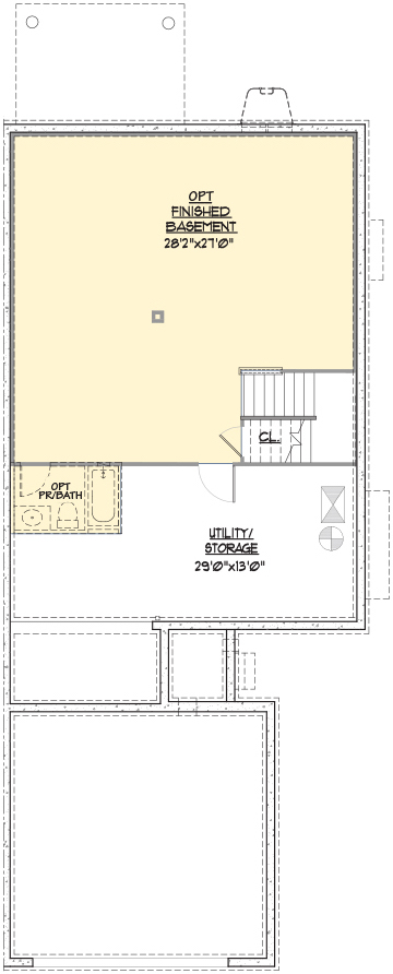 Charleston End Floor Plan Lower Level