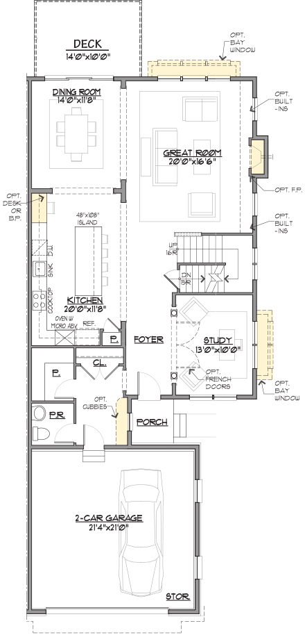 Charleston End Floor Plan Main Level