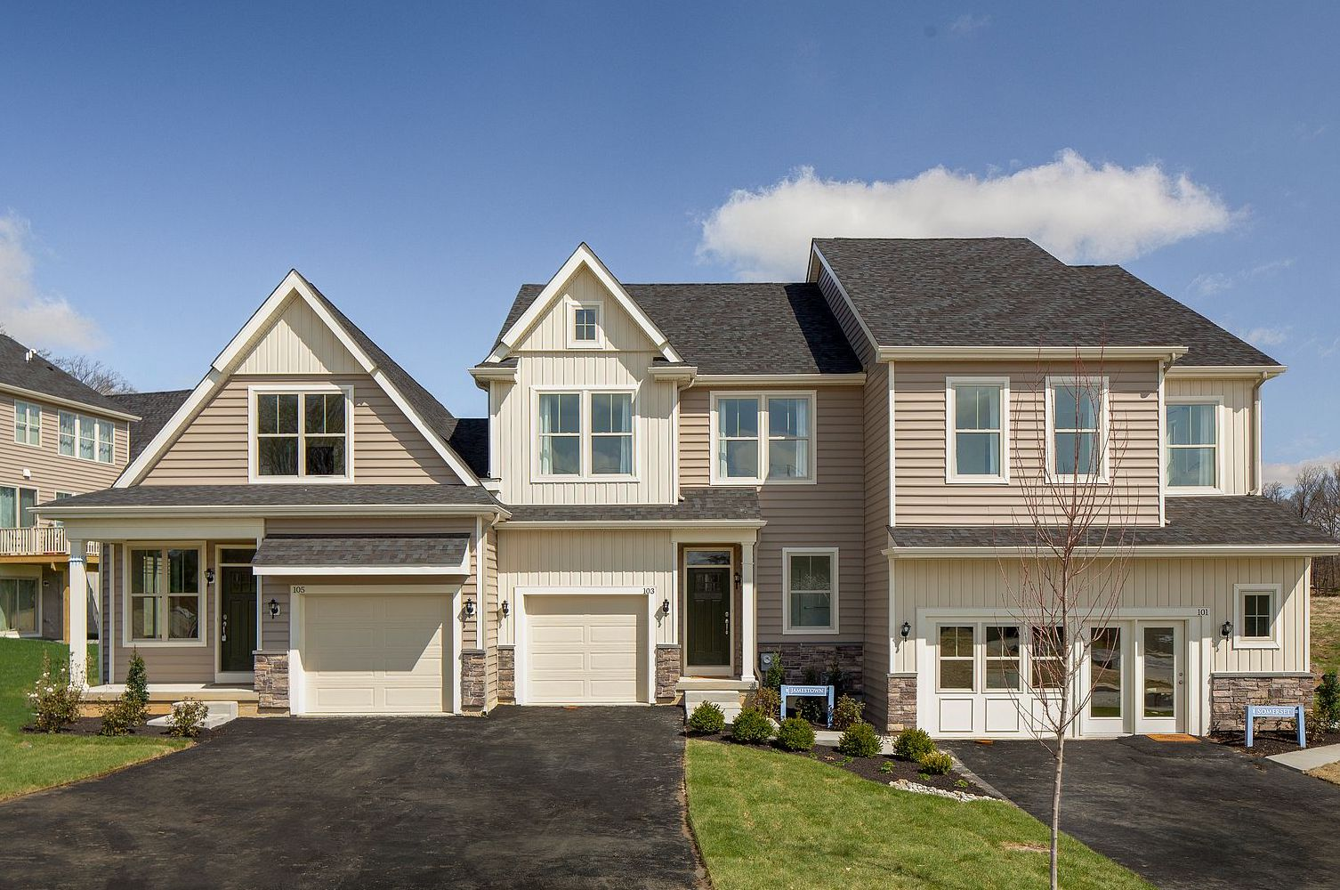 Image of the exterior of a townhome exterior at Pemberton