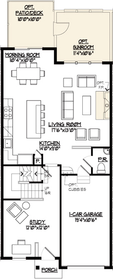Jamestown II Floor Plan Main Level