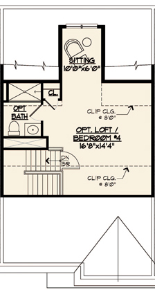 Jamestown Floor Plan Optional Loft Level