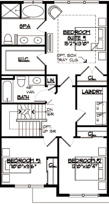 Jamestown Floor Plan Bedroom Level