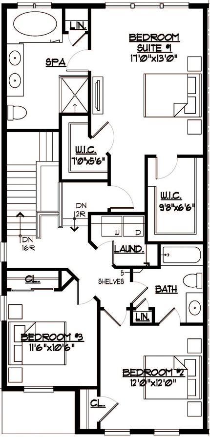 Somerset Floor Plan Bedroom Level