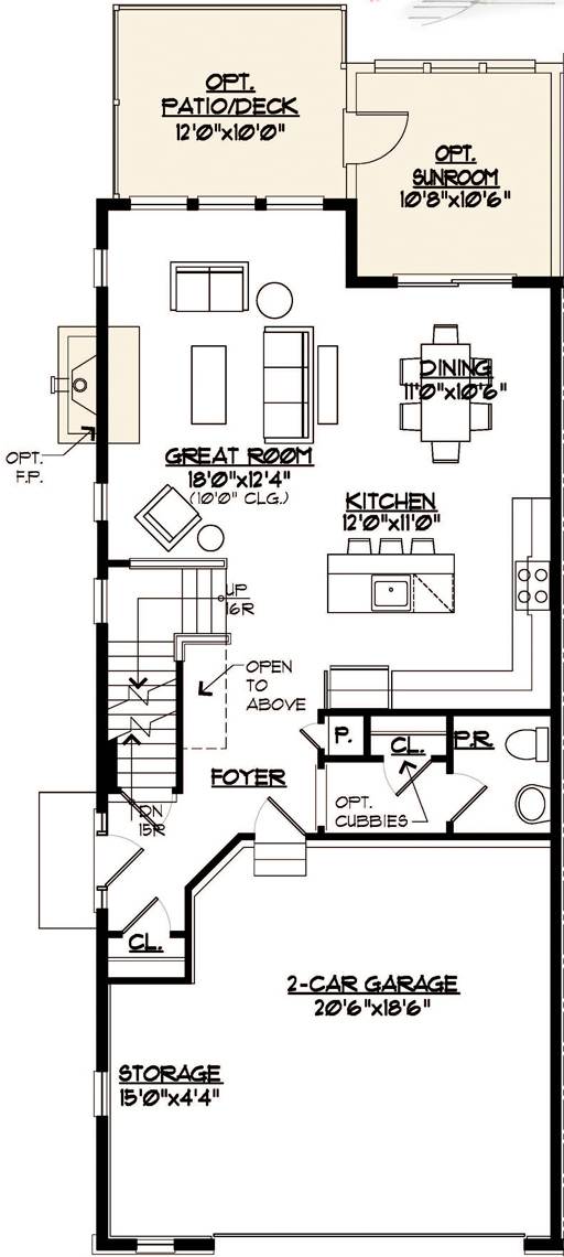 Somerset Floor Plan Main Level