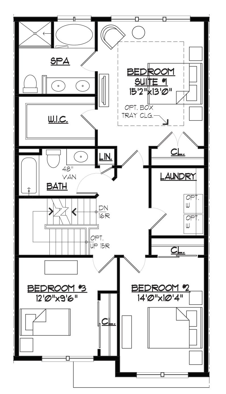 Jamestown II Bedroom Level Floorplan