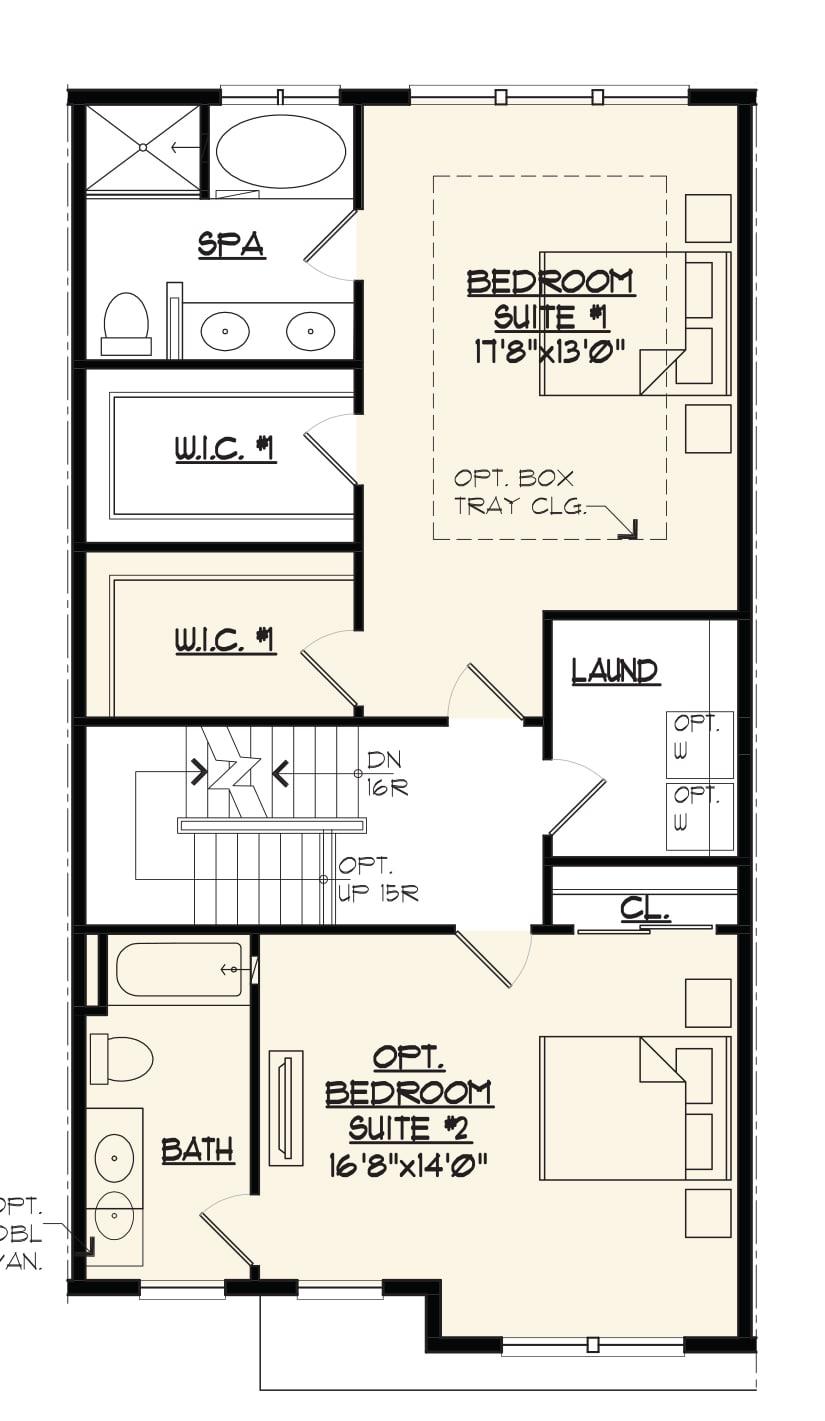 Bedroom floor plan for a new Jamestown 2 Bentley Home.