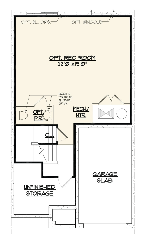Jamestown Basement Floorplan