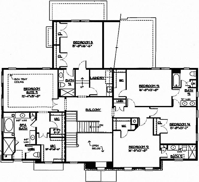 Laurel Floor Plan 2nd Floor