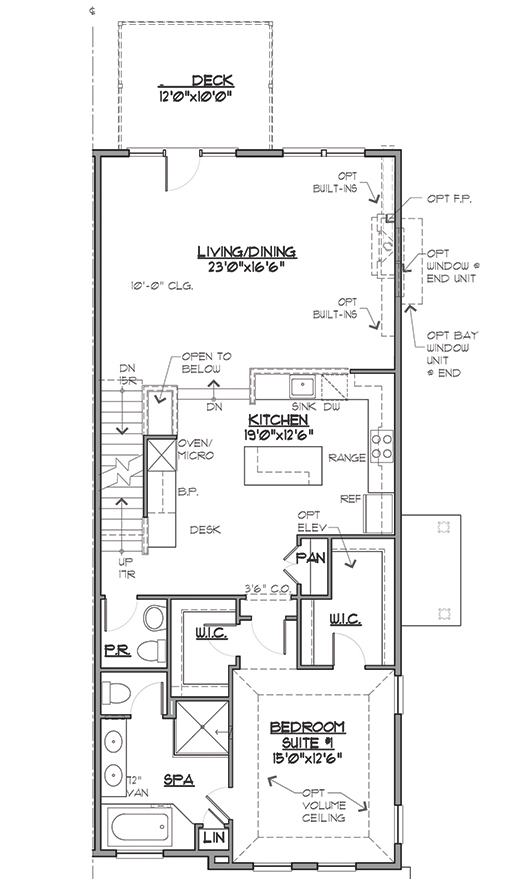 Image of main floor blueprint.