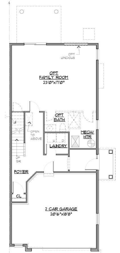 Image of floor plan blueprint.