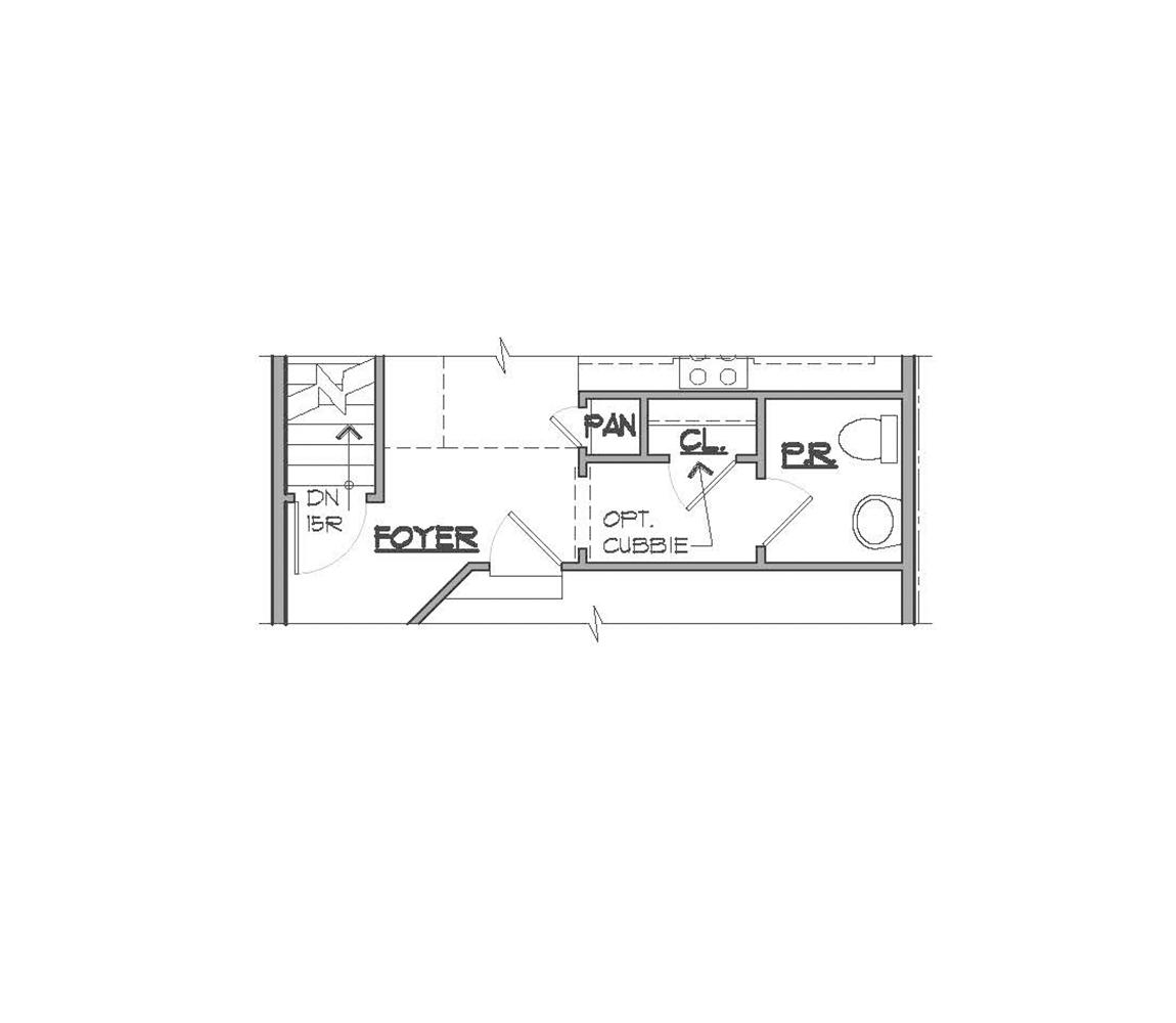 Somerset main floor plan.
