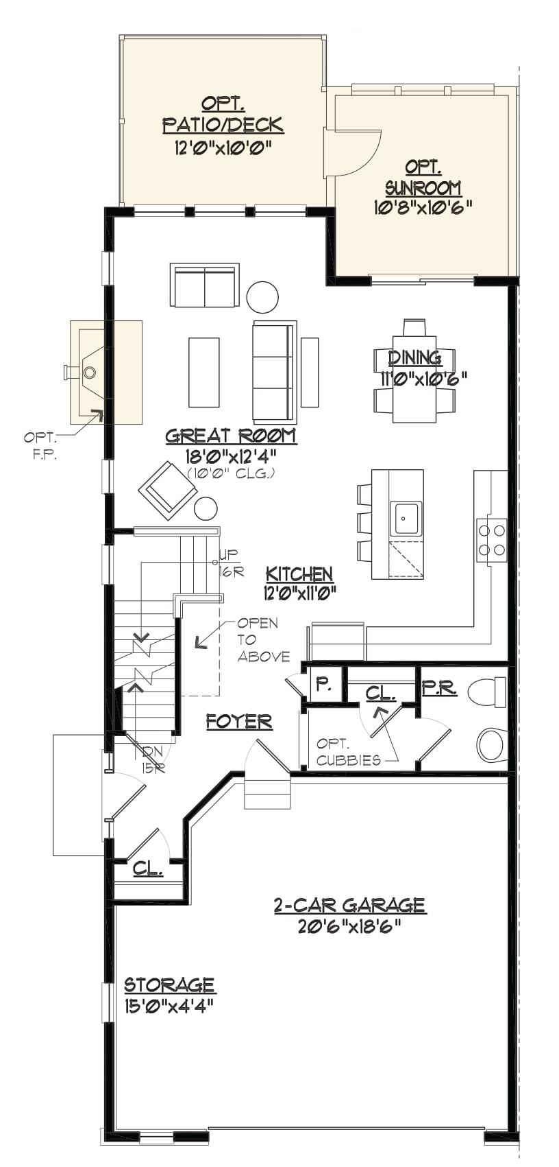 Bentley Homes Somerset main floor plan