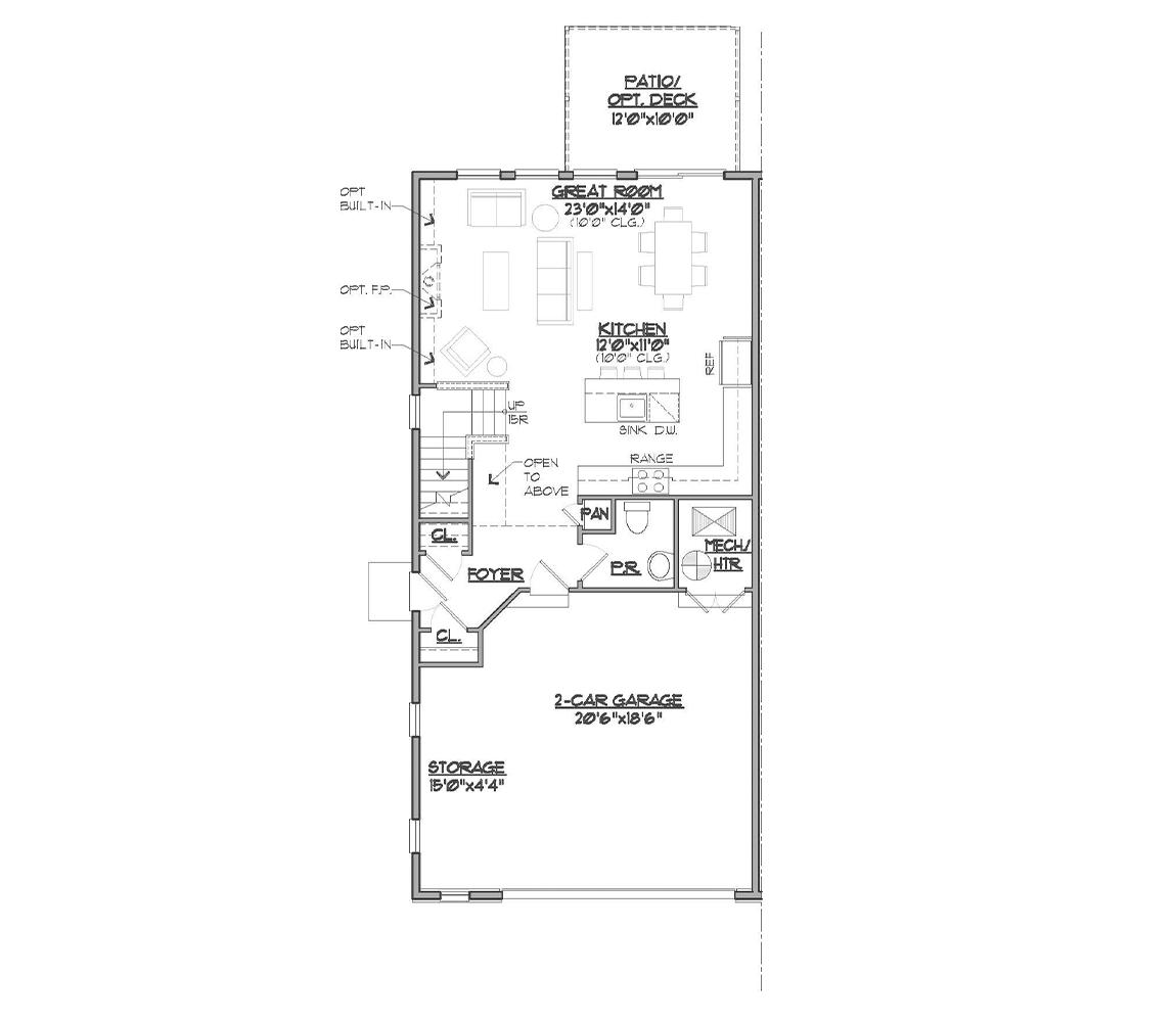 Somerset second main floor plan.