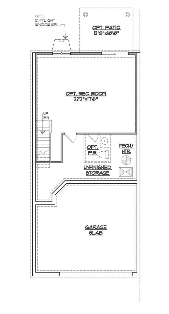 Somerset basement floor plan.