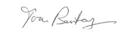 Tom Bentley signature