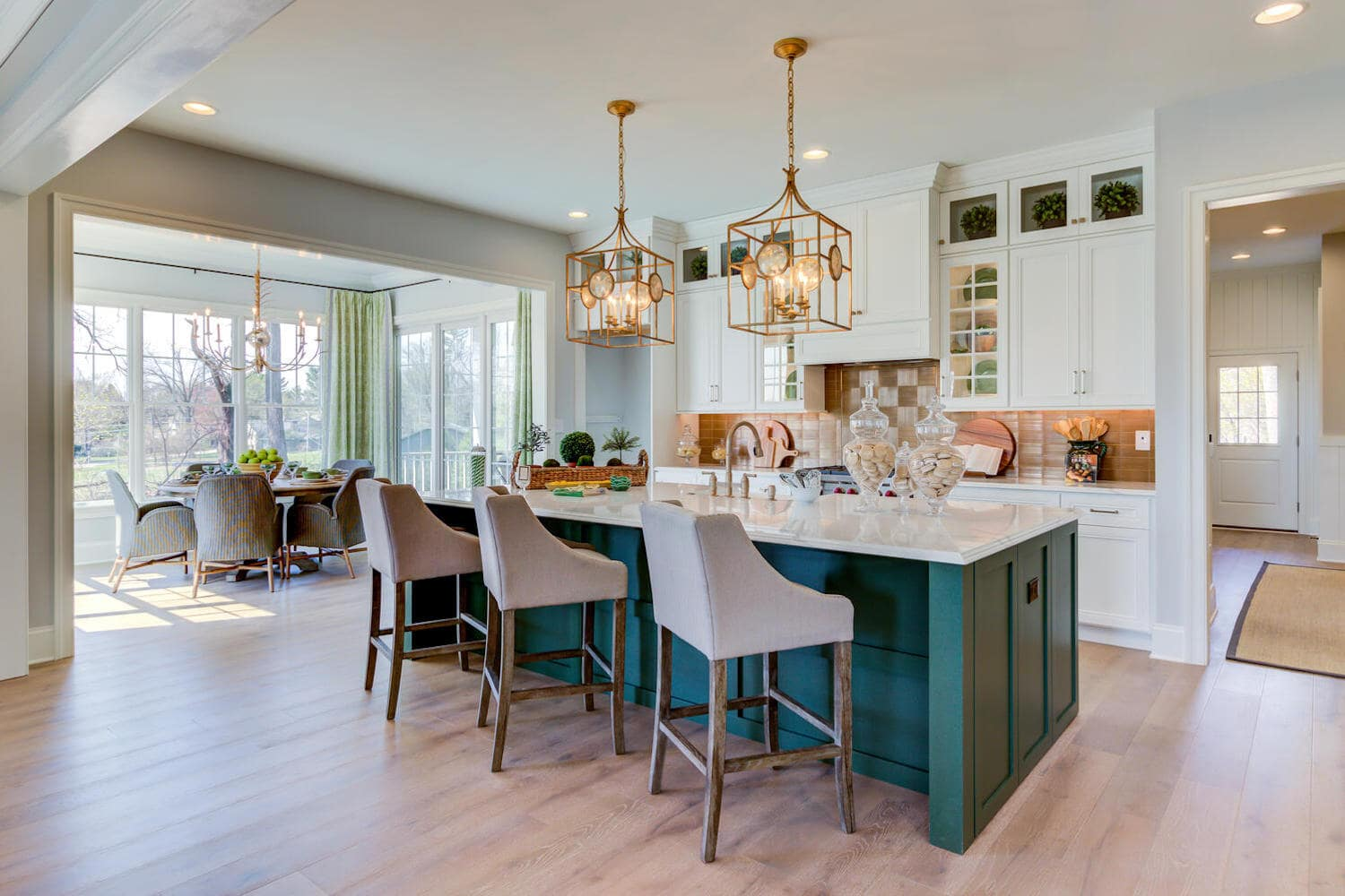 Kitchen of a new home from Bentley Homes.