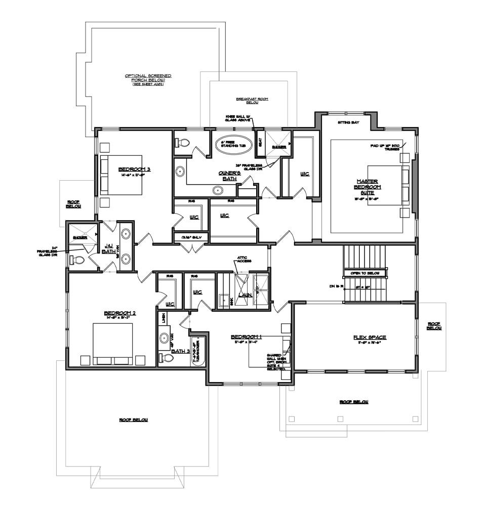 Atlee Bedroom Lebel from Bentley Homes..