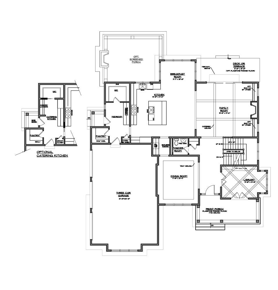 Atlee Main level floor plan from Bentley Homes.