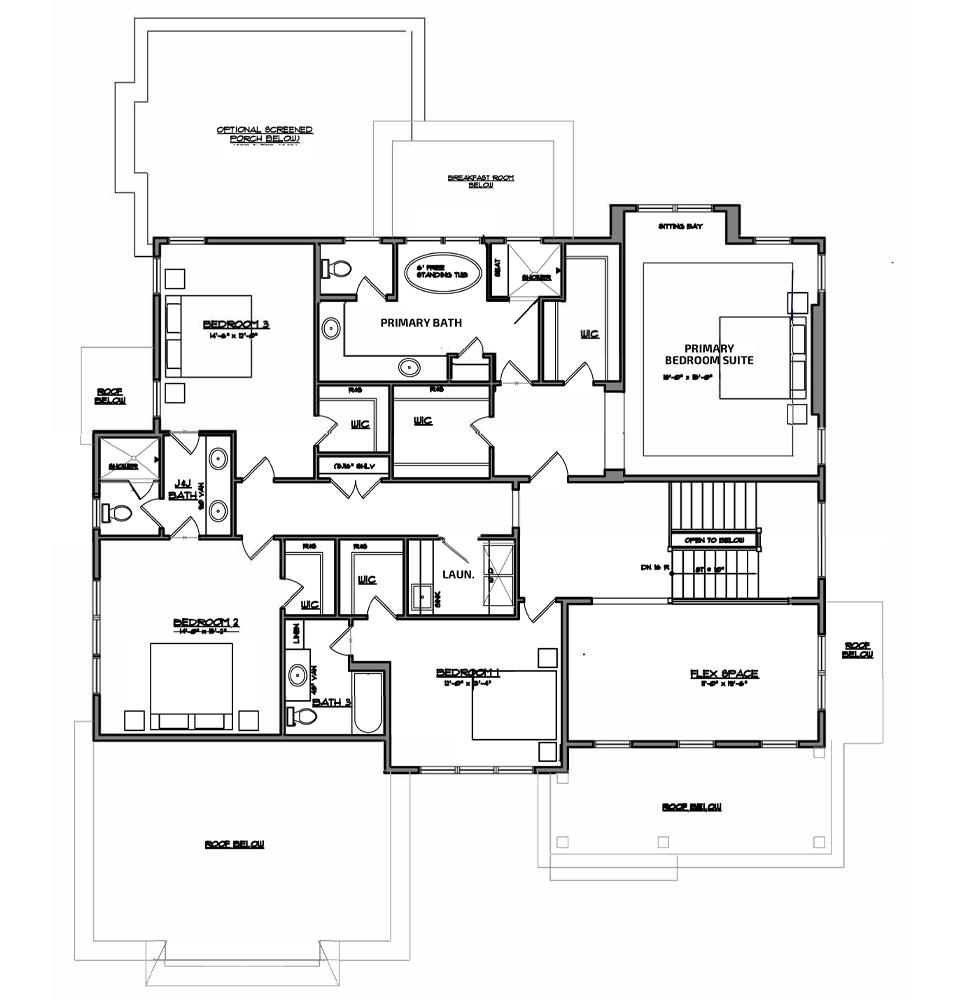 Atlee bedroom floor plan.