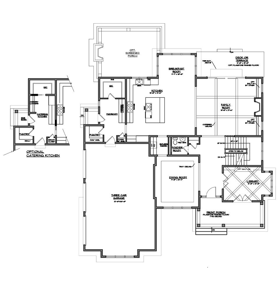Atlee main level floor plan.
