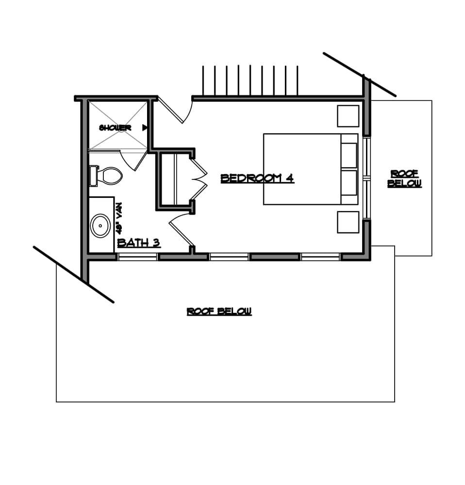 Atlee Optional bedroom from Bentley Homes..