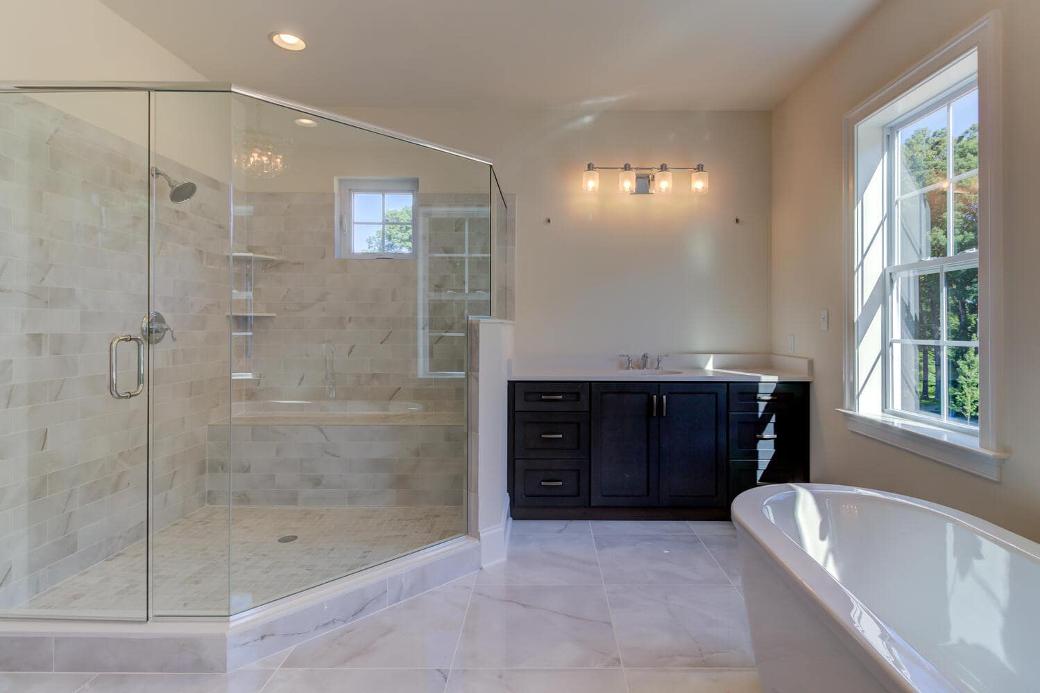Bathroom in a new home from Bentley Homes.