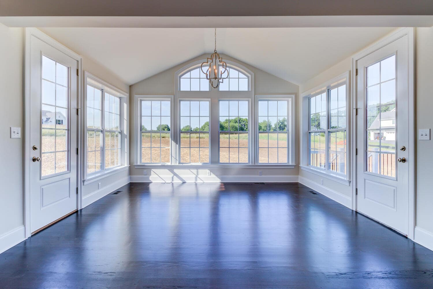 Gathering area with windows in a new home from Bentley Homes.
