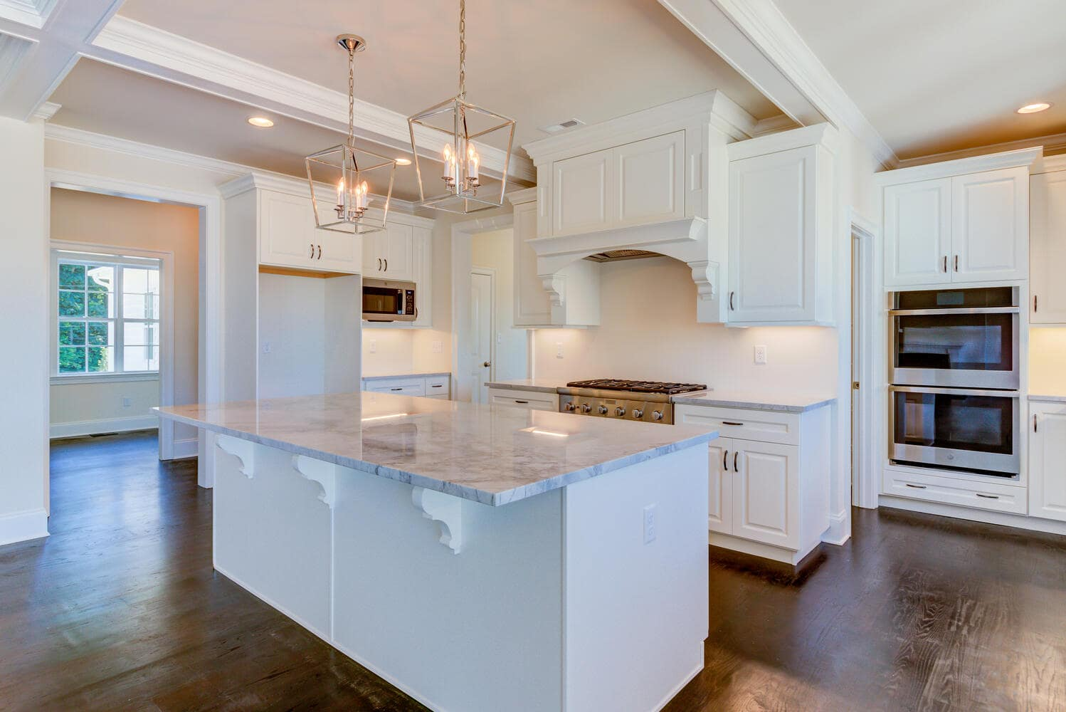 Kitchen in a new home from Bentley Homes.