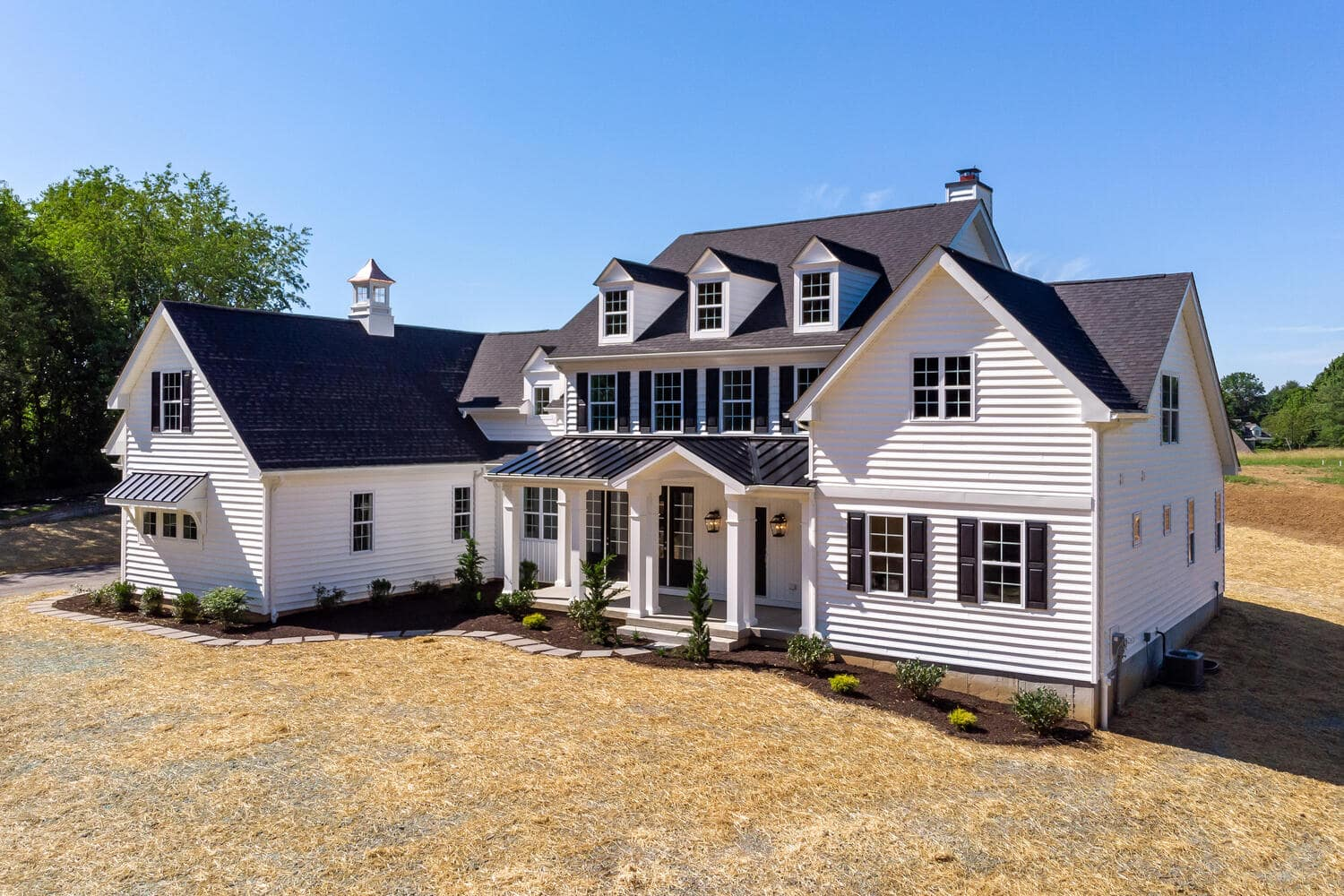 exterior image of a new home from Bentley Homes.
