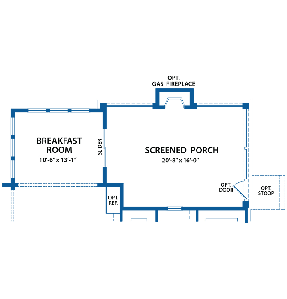 screen porch floor plan
