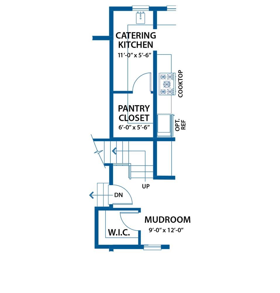 Denbigh kitchen floor plan option from Bentley Homes.