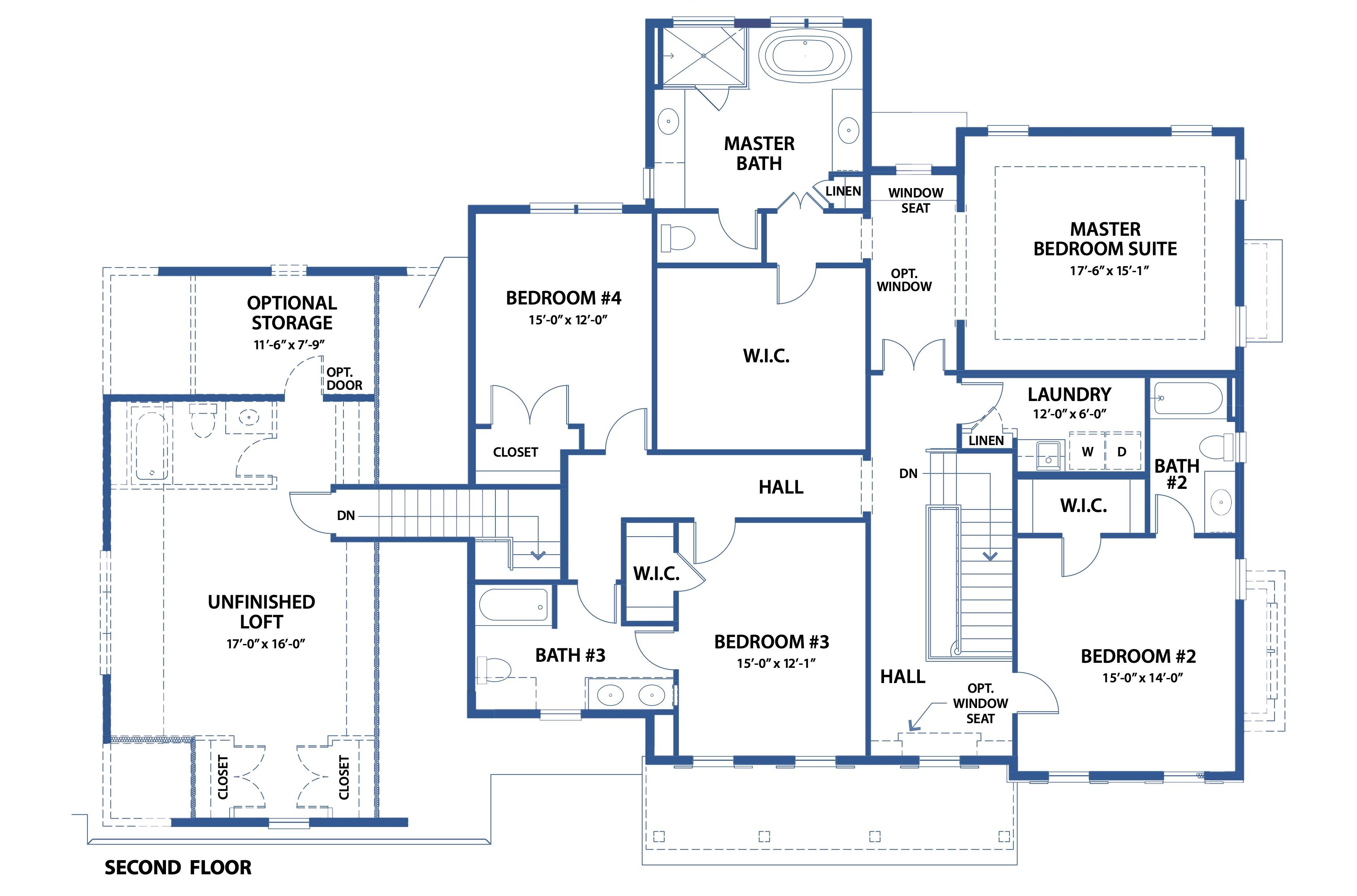 Bentley Homes blueprint of floor plan.