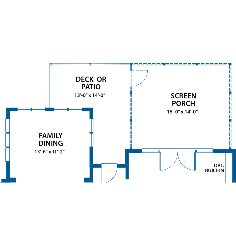 screen porch option floor plan